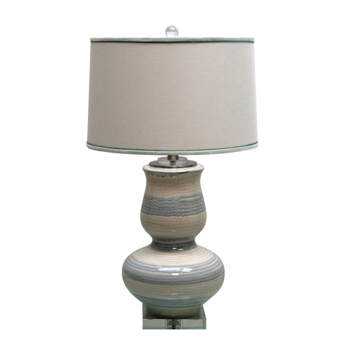 "27.5""H Ceramic Table Lamp with Crystal Base"
