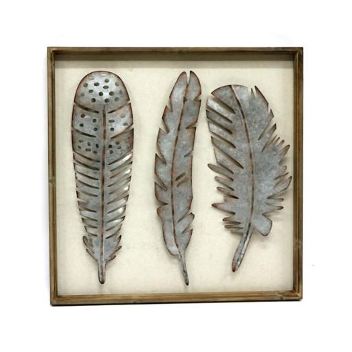 Metallic Feathers Wall Decor