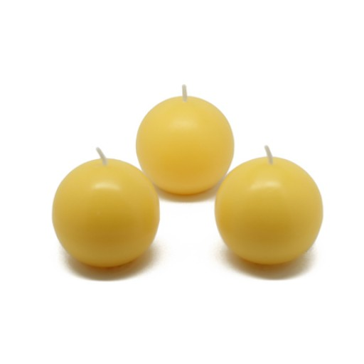 "2"" Yellow Ball Candles (12pc/Box)"