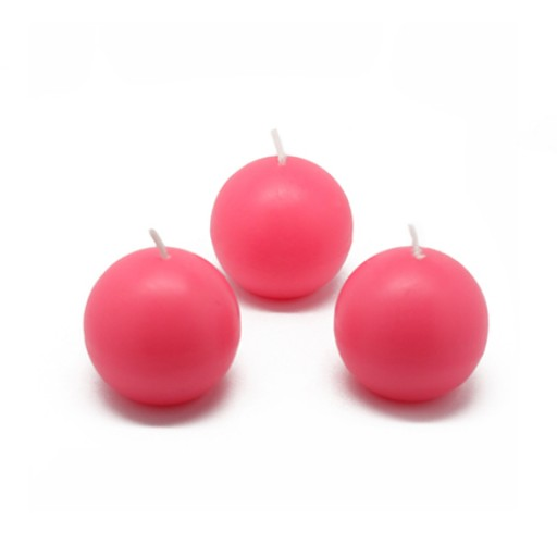 "2"" Hot Pink Ball Candles (12pc/Box)"