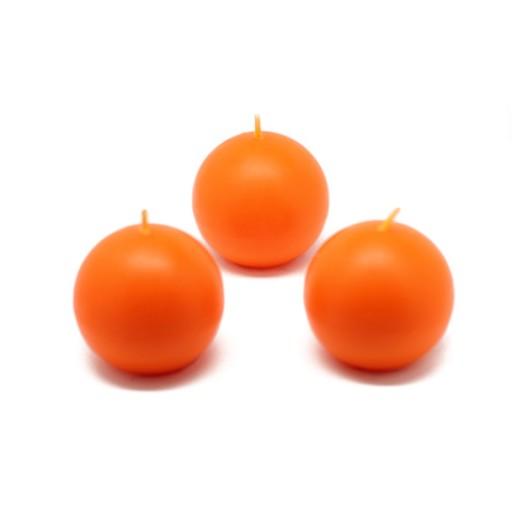 2 Inch Orange Ball Candles (12pc/Box)
