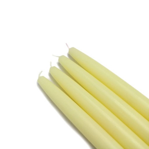 "6"" Ivory Taper Candles (1 Dozen)"