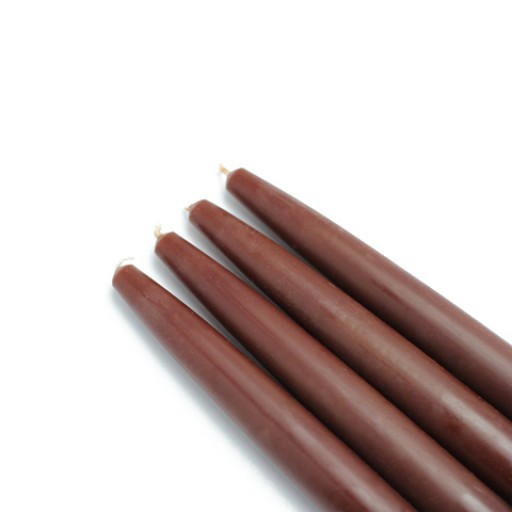 "6"" Brown Taper Candles (1 Dozen)"