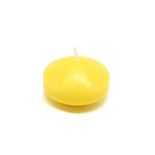 "1 3/4"" Yellow Floating Candles (24pc/Box)"