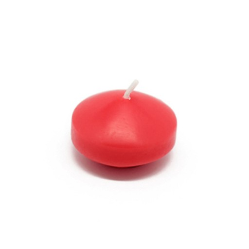 1 3/4 Inch Ruby Red Floating Candles (24pc/Box)