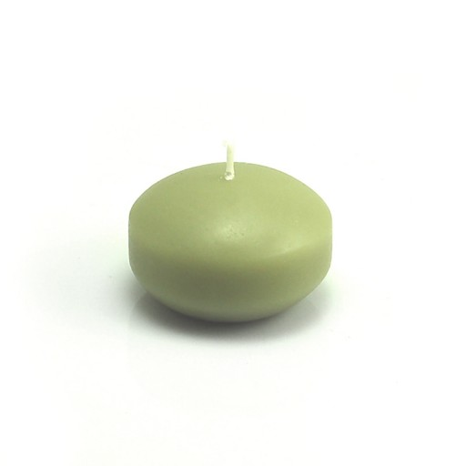 """1 3/4"""" Sage Green Floating Candles (24pc/Box)"""