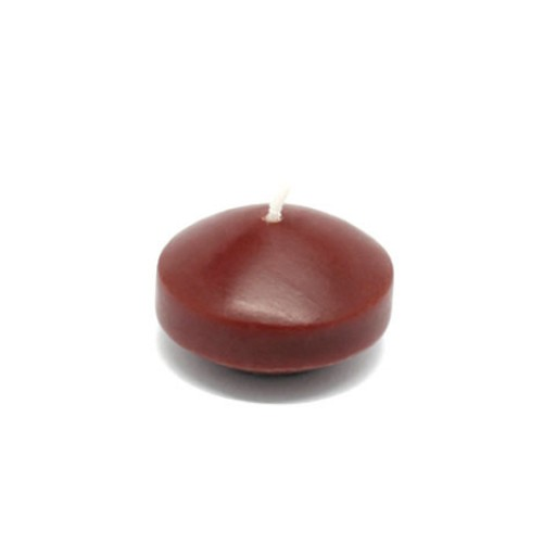"1 3/4"" Brown Floating Candles (24pc/Box)"