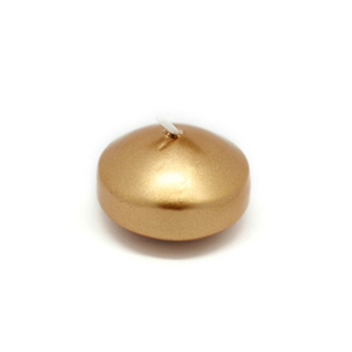 1 3/4 Inch Metallic Gold Floating Candles (24pc/Box)