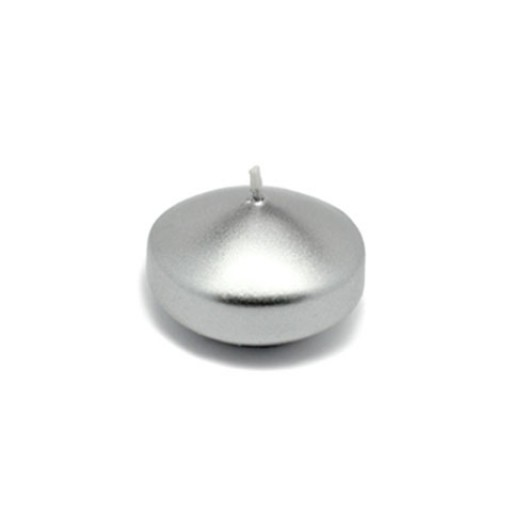 "1 3/4"" Metallic Silver Floating Candles (24pc/Box)"