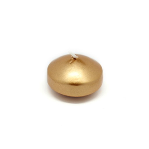 1 3/4 Inch Metallic Bronze Gold Floating Candles (24pc/Box)