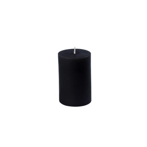 2 x 3 Inch Black Pillar Candle