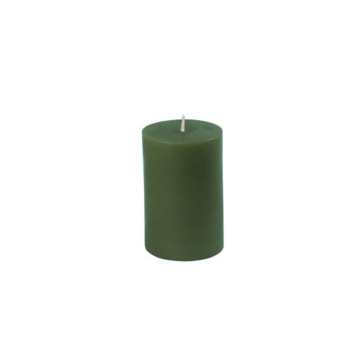 "2 x 3"" Hunter Green Pillar Candle"