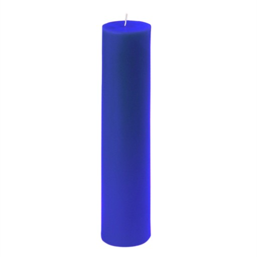 2 x 9 Inch Blue Pillar Candle
