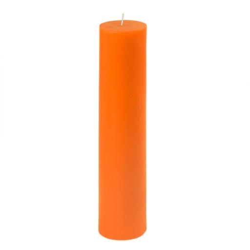 "2 x 9"" Orange Pillar Candle"