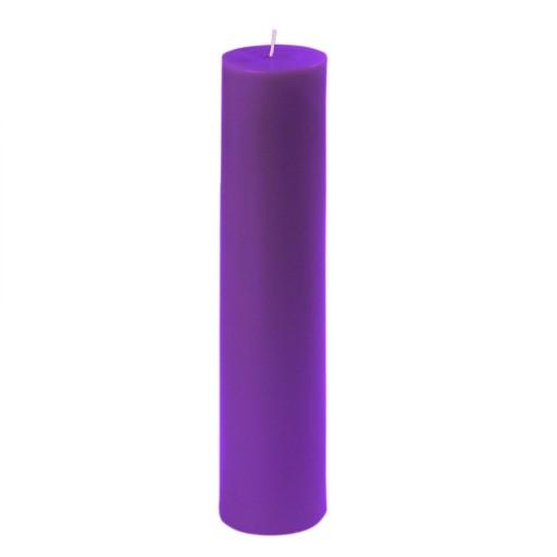 "2 x 9"" Purple Pillar Candle"