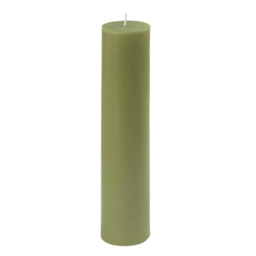 "2 x 9"" Sage Green Pillar Candle"