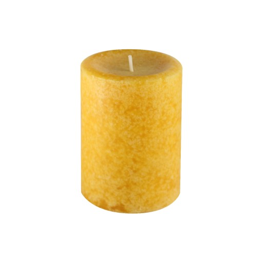 "3"" x 4"" Pumpkin Spice Mustuard Vanilla Scented Pillar Candle"