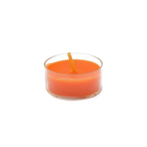 Orange Tealight Candles (50pcs/Pack)