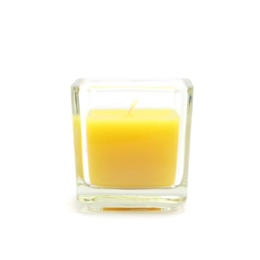 Citronella Square Glass Votive Candles (12pc/Box)