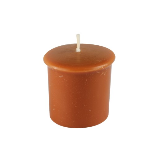 Rain Lissed Oak Leaf  Brown Votive Candles (8pc/Box)