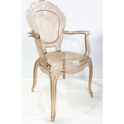 Amber Plastic Arm Chair (Set of 2)