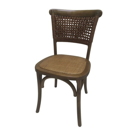"""34""""H Brown Wooden Chair - Set of 2"""