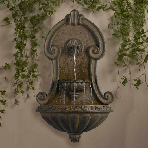 Muro Elegante Copper Finish Wall  Fountain