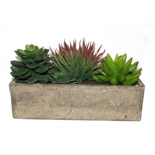 """6"""" Artifical Succulent Garden"""