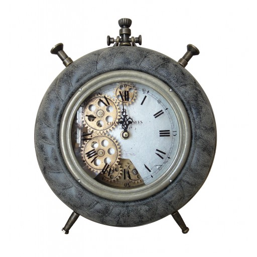 Gold and Gray Table Clock