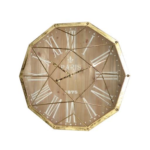 "27"" Gold Metal Decoration Wall Clock"
