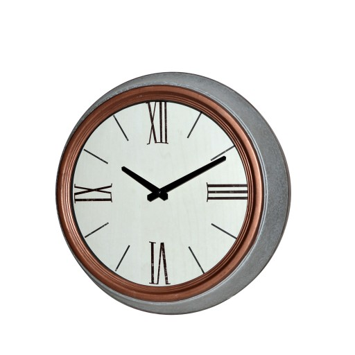 "14.5"" Metal Round Wall Clock"