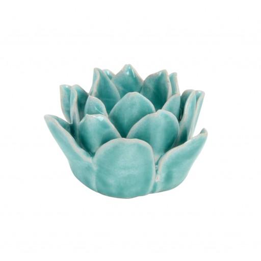"""5"""" T-Light Holder- Blue Flower"""