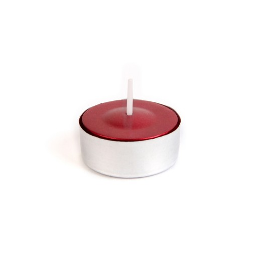 Metallic Red Tealight Candles (50pcs/Pack)