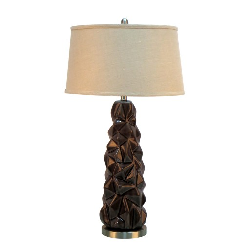 "33""H Ceramic Table Lamp with Metal Base"