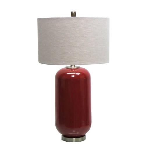 "28.75""H Ceramic Table Lamp with Metal Base"