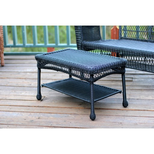 Black Wicker Coffee Table: Black Wicker Coffee Table