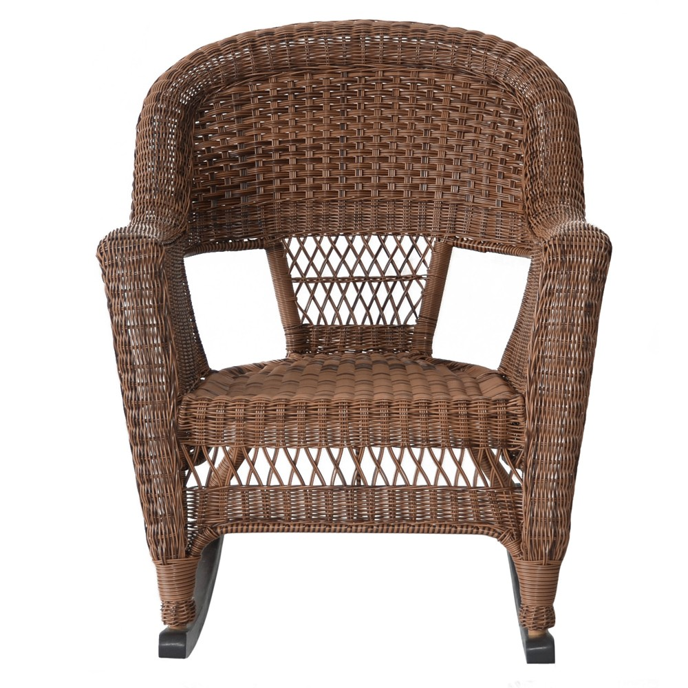 Honey rocker wicker chair bazaar home for Real wicker outdoor furniture