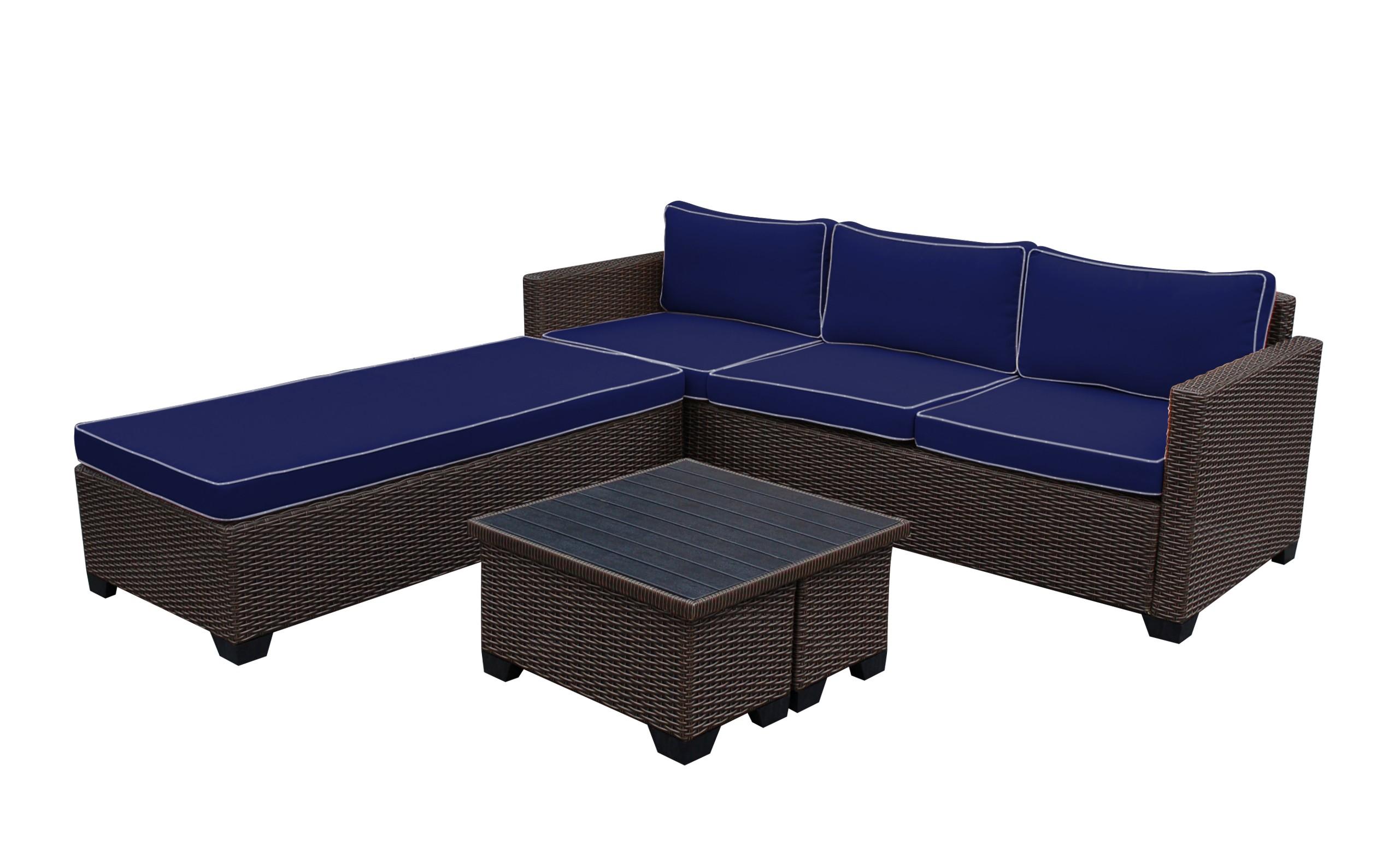 Superb Saint Helena 5Pcs Conversation Set With Midnight Blue Cjindustries Chair Design For Home Cjindustriesco
