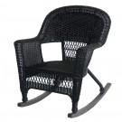 Black Rocker Wicker Chair