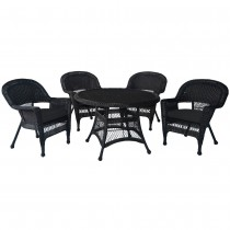 5pc Wicker Dining Set With Cushions