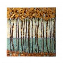 "40"" Golden Forest Decorative Canvas"