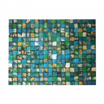 """48"""" x 36"""" Blue Squares Abstract Canvas"""