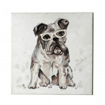 """20"""" Dog with Glasses Canvas Art"""