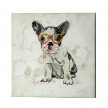 """20"""" Playful Puppy with Glasses Canvas Art"""