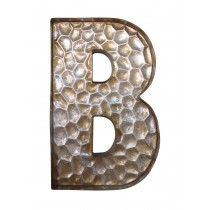 Honeycomb Patterned Letter B