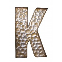 Honeycomb Patterned Letter K