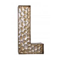 Honeycomb Patterned Letter L