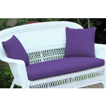 Purple Loveseat Cushion with Pillows