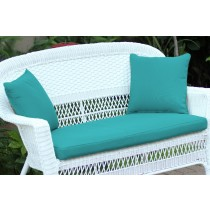 Turquoise Loveseat Cushion with Pillows