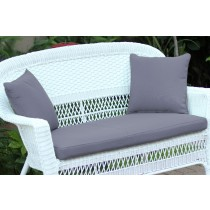 Steel Blue Loveseat Cushion with Pillows